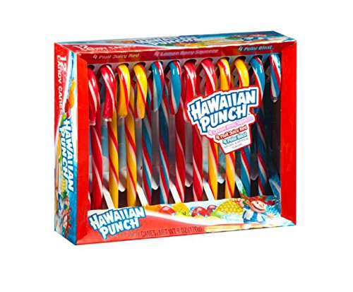 Hawaiian Punch Candy Canes 2-Pack (24 Candy Canes) (Hawaiian Four)