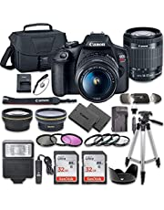 Canon EOS Rebel T7 DSLR Camera Bundle with Canon EF-S 18-55mm f/3.5-5.6 is II Lens + 2pc SanDisk 32GB Memory Cards + Accessory Kit photo