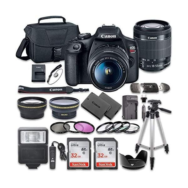 51C1ZLCf7tL. SS600 - Canon EOS Rebel T7 DSLR Camera Bundle with Canon EF-S 18-55mm f/3.5-5.6 is II Lens + 2pc SanDisk 32GB Memory Cards + Accessory Kit Canon EOS Rebel T7 DSLR Camera Bundle with Canon EF-S 18-55mm f/3.5-5.6 is II Lens + 2pc SanDisk 32GB Memory Cards + Accessory Kit 51C1ZLCf7tL