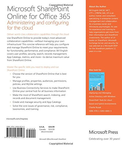 Microsoft SharePoint Online for Office 365: Administering