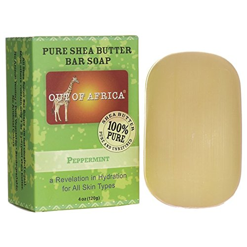 Out Of Africa Pure Shea Butter Bar Soap, Peppermint, 4 oz