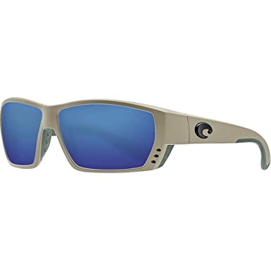 0b889cf8faf2 Costa Del Mar Tuna Alley Sunglasses Sand/Blue Mirror 580Glass at Amazon  Men's Clothing store: