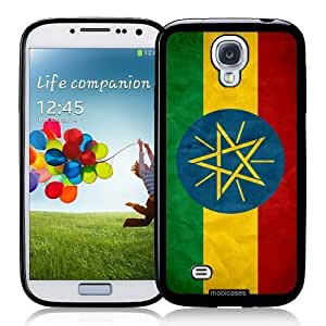 diy phone caseCool Painting Flag of Ethiopia Grunge - Protective Designer BLACK Case - Fits Samsung Galaxy S4 i9500diy phone case