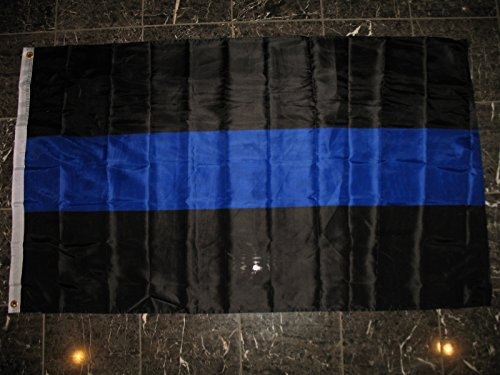 ALBATROS 3 ft x 5 ft Police Blue Line Law Enforcement 210D Nylon 2ply Flag Banner for Home and Parades, Official Party, All Weather Indoors Outdoors