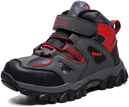 RUMPRA Kids Hiking Shoes Boys Outdoor Climbing Sneakers Non-Slip Winter  Snow Boots Walking Trail Running Antiskid Steel Buckle Sole(Black-red, 41):  Buy Online at Best Price in UAE - Amazon.ae
