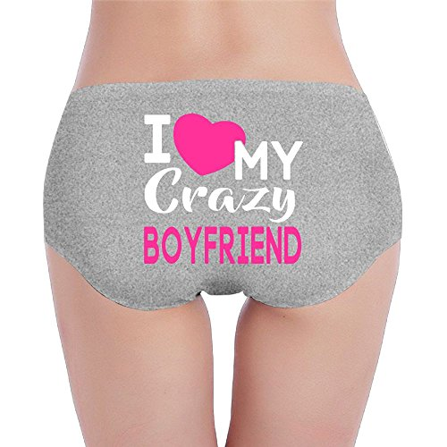 Joapron Love My Crazy Boyfriend Women's Stretchable Underwear Medium - Albany Outlet