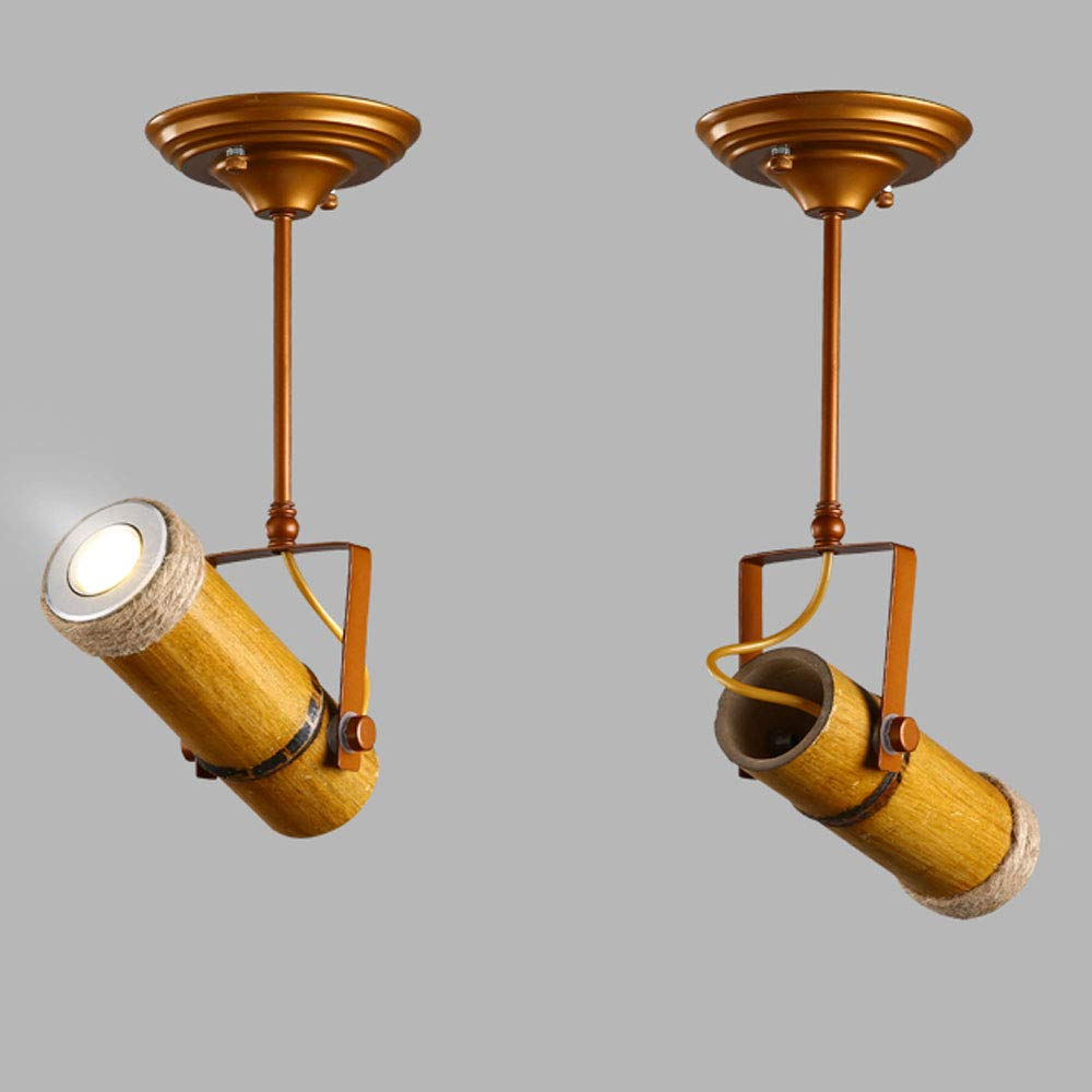 ZJⓇ Spotlight Track Light - Personality Creative Hemp Rope Bamboo Downlight Retro Hotel LED Lamp Long Rod Light - 5 Models - New Chandelier && (Size : 1) by ZJⓇ Spotlight (Image #4)
