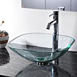 Sink Bathroom Glass Vessel Natural Washroom Clear Modern Tempered Vanity Basin