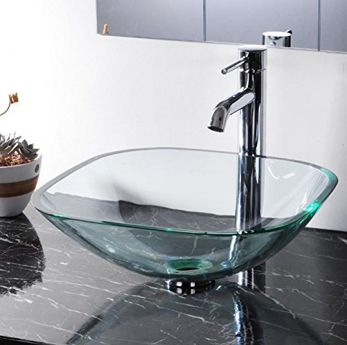 Clear Square Glass Sink - 7