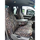 Covercraft SeatSaver Front Row Custom Fit Seat Cover for Select Ford Ranger Models - Polycotton (Misty Grey)