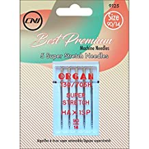 Clover 9125 Best Premium Machine Needles, Super Stretch