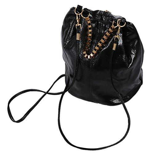 TOOGOO(R) Sacchetto del messaggero delle nuove borse della borsa delle donne della borsa della spalla delle signore dell'annata (nero)