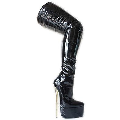 e96de65223 Sorbern Patent Mid Thigh High Women Boots Metal High Heels Custom Leg  Length-Width-