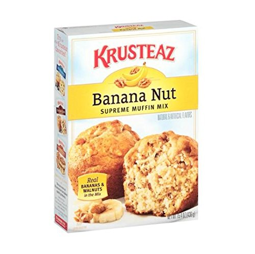 - Krusteaz, Banana Nut Muffin Mix, 15.4 oz Box (Pack 3)