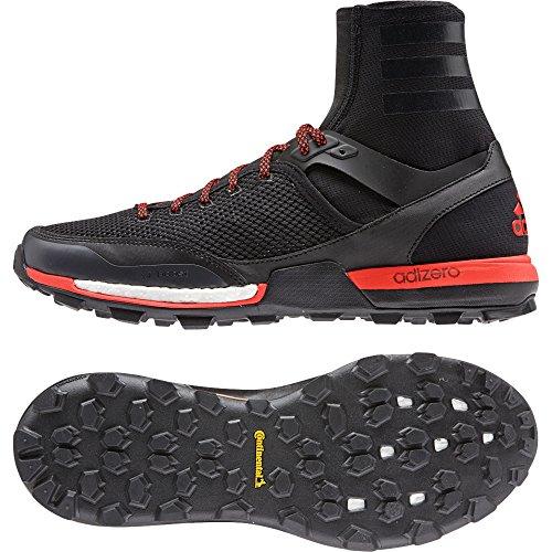 Adidas Outdoor 2015 Men's AdiZero XT 5 Boost Trail Running Shoes - B23452 (Black/Dark Grey/Solar Red - 8.5)