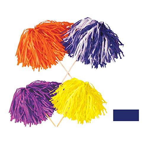 Club Pack of 144 Solid Blue Tissue Shaker Pom Pom Accessories 16