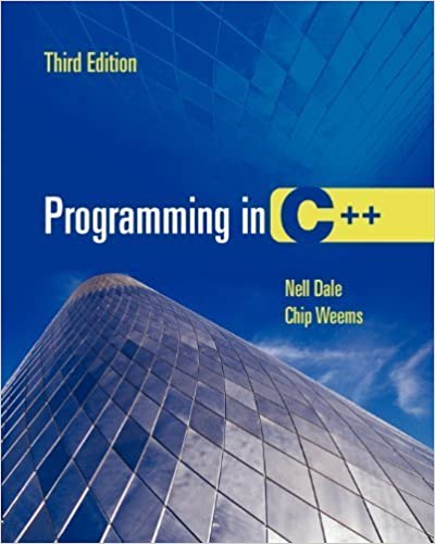 Book Programming In C++ by Nell Dale (2004-09-30)