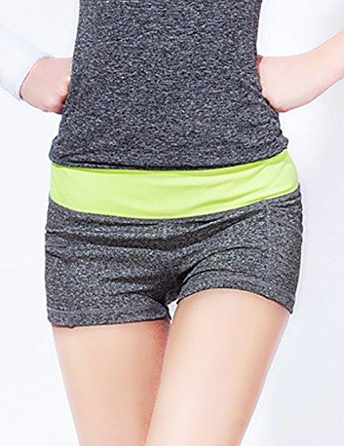 Jimmy Design - Pantalón corto deportivo - para mujer Grau + Gelb