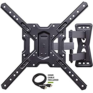 "Full Motion Swivel Articulating Tilt TV Wall Mount Bracket for 26-55"" LED, OLED, 4K TVs-Fit for 32, 40, 50 TV with VESA Up to 400x400mm-Weight Capacity Up to 60lbs by USX MOUNT"