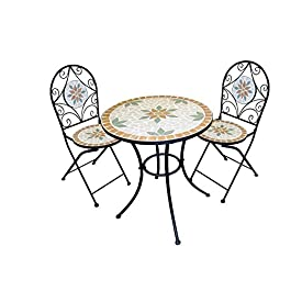 Alpine Corporation 3-Piece Mosaic Bistro Set &#821...