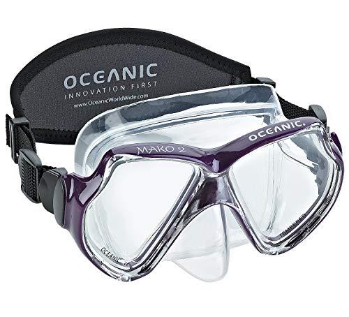 Oceanic Mako 2 Dive Mask with Hard Box, Purple (Renewed)