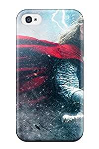 1082355K34481452 For Iphone 4/4s Tpu Phone Case Cover(thor The Dark World)