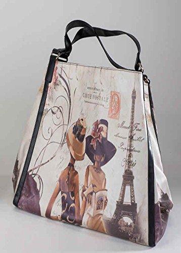 1 Tasche ca.44 x 30cm Paris - aus Kunstleder