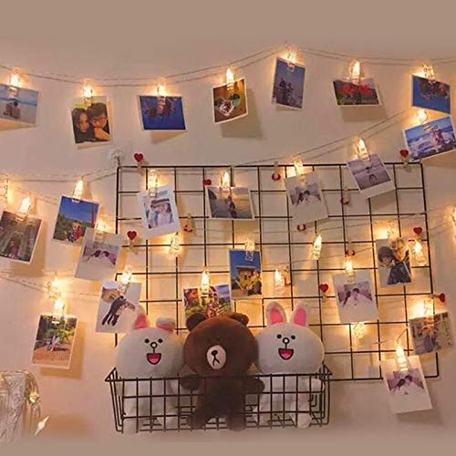 Magnoloran 20 Led Photo Clip Remote String Lights Fairy Twinkle String Lights, Wedding Party Home Decor Lights with 8…