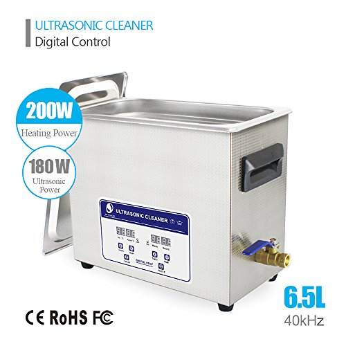 6.5L Professional Ultrasonic Cleaner Industrial/Commercial component/ Auto Engine Parts/Auto/Moto parts/Car Accessories Cleaning /Hospital Medical equipment/Devices Cleaning by eBelt Industrial