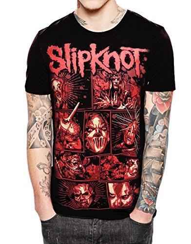 Stand-Zone Slipknot Member Tour Comic Black T Shirt,Sleeveless,Hoodie (Large Chest 21