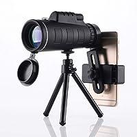 SYLVAWOLVES Monocular Telescope,40x60 Monocular with Smartphone Holder & Tripod Night Vision Waterproof Zoom Telescope…