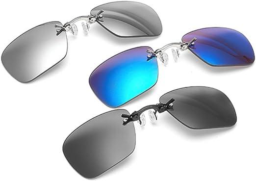 Fashion Round Clip On Nose Sunglasses Men Matrix Movie Rimless Retro Eyeglasses