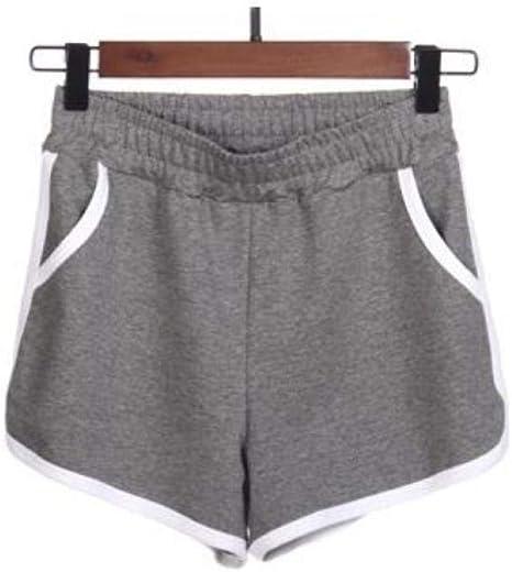 ZEEKYLY Summer Biker Running Short Shorts para Mujer Pantalones Cortos de algodón de Cintura Alta Home Shorts para Mujer Tallas Grandes: Amazon.es: Deportes y aire libre