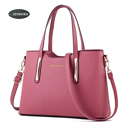 Women's PU Leather Shoulder Bags Top-Handle Handbag Tote Bag Fashion Cross Body Bag XMLiZhiGu Pink