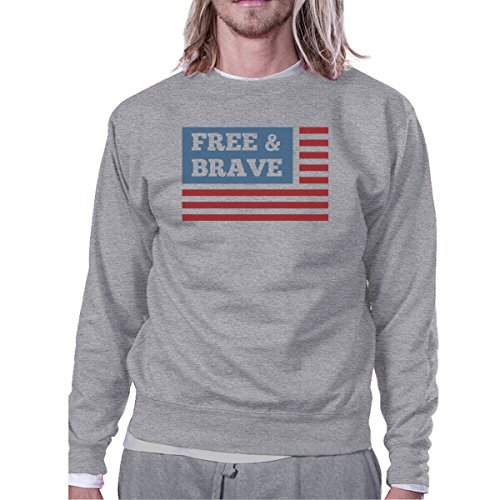 Flag Taille Femme Brave Longues Us Free shirt amp; Printing Unique Sweat Manches 365 qwXg7Yn