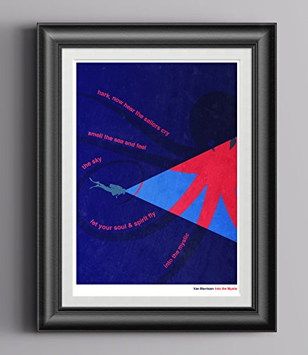 Van Morrison - Into The Mystic Print/Poster. Minimalist for sale  Delivered anywhere in Canada