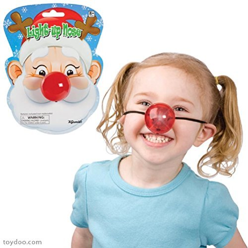Light Up Red Nose Battery Operated Holiday or Clown Toy
