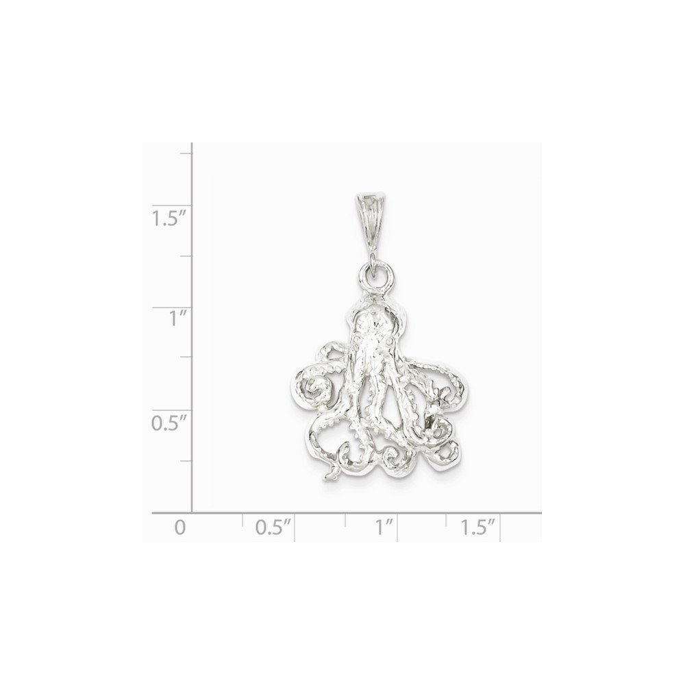 Mireval Sterling Silver Octopus Charm (26 x 22mm) by Mireval (Image #2)