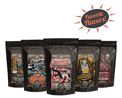 Favorite Flavors 5 Bag Sample Pack by Bones Coffee Company (Ground)