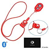 CamKix Camera Shutter Remote Control With Bluetooth® Wireless Technology - Red - Lanyard