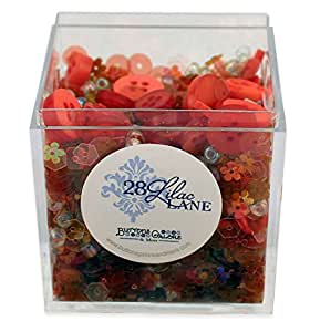 Poppy Fields Shaker Mix 60 grams Sequins Buttons Seed Beads