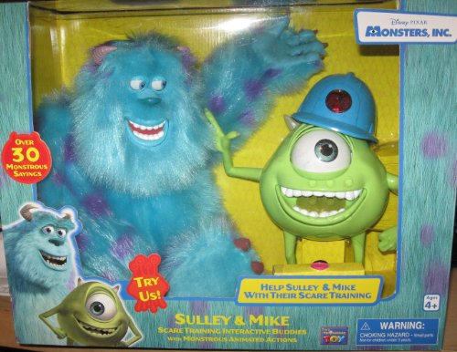 Monsters, INC. Electronic Interactive Talking Sulley & Mike Combo by Thinkway Toys -