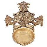Handmade Brass Oil Lamps Diya Puja Items Indian Religious Gifts Hindu Mandir