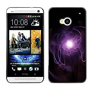 Be Good Phone Accessory // Dura Cáscara cubierta Protectora Caso Carcasa Funda de Protección para HTC One M7 // Purple Lightning