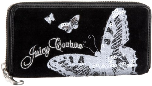 UPC 098689184289, Juicy Couture Fashion Velour Butterfly Zipper Wallet,Black,one size