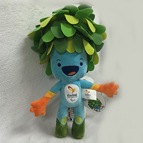 2016 Brazil Rio de Janeiro Olympic & Paralympic Plush Mascot Vinicius & Tom,30cm Blue