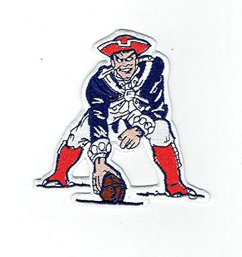 New England Patriots NFL Football Team Retro/Throwback Iron-on Jersey Patch 4