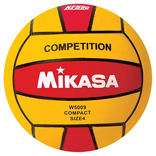 Mikasa W5009RED Competition Game Ball, Red/Yellow, Size 4