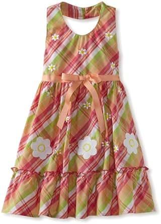 Blueberi Boulevard Little Girls' Diasies Halter Sundress, Multi, 6x