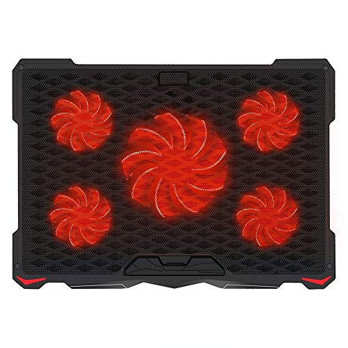 Review Of AICHESON Laptop Cooling Pad 5 Fans Up to 17.3 Inch Notebook, Red LED Lights, 2 USB Ports, ...